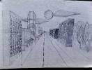 Улица. Линейная перспектива.