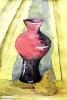 Натюрморт с красной вазой