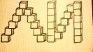 Композиции из кубов. Буквы.